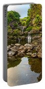 Private Pool Paradise - The Beautiful Scene Of The Seven Sacred Pools Of Maui. Portable Battery Charger