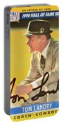 Pro Football Coach Tom Landry Portable Battery Charger