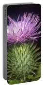 Profile Of Pruple Thistle Portable Battery Charger