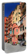 promenade and homes in Camogli Portable Battery Charger