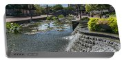 Promenade And Waterfall In Carroll Creek Park In Frederick Mary Portable Battery Charger