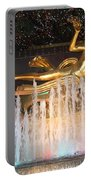 Prometheus Greek Statue In Rockefeller Ice Rink Portable Battery Charger
