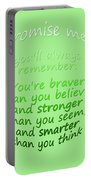 Promise Me - Winnie The Pooh - Green Portable Battery Charger