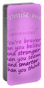 Promise Me - Winnie The Pooh - Pink Portable Battery Charger