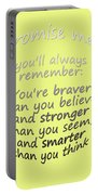 Promise Me - Winnie The Pooh - Yellow Portable Battery Charger