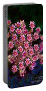 Promising Pink Petals Abstract Garden Art By Omaste Witkowski Portable Battery Charger