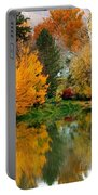 Prosser - Fall Reflection With Hills Portable Battery Charger