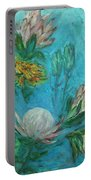 Protea Flower Study I Portable Battery Charger