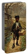 Protecting The Groceries Portable Battery Charger by Edward Lamson Henry