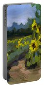 Provence Sunflower Field Portable Battery Charger