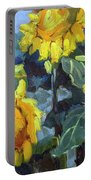Provence Sunflower Trio Portable Battery Charger