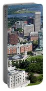 Providence Rhode Island Downtown Skyline Aerial Portable Battery Charger