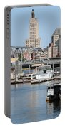 Providence River And Point St Bridge Portable Battery Charger