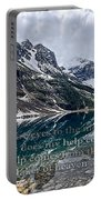 Psalm 121 With Mountains Portable Battery Charger