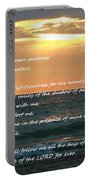 Psalm 23 Beach Sunset Portable Battery Charger