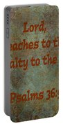 Psalms 36 Verse 5 Portable Battery Charger