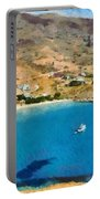 Psili Ammos Beach In Serifos Island Portable Battery Charger