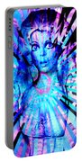 Psychedelic Barbie Portable Battery Charger