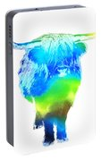 Psychedelic Bovine #2 Portable Battery Charger