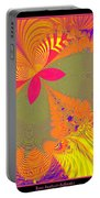 Psychedelic Butterfly Explosion Fractal 61 Portable Battery Charger