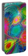 Psychedelic Colors Portable Battery Charger