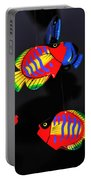 Psychedelic Flying Fish Portable Battery Charger by Kaye Menner