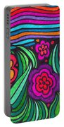 Psychedelic Garden Portable Battery Charger