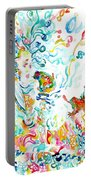 Psychedelic Goddess With Toads Portable Battery Charger