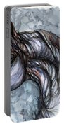 Psychedelic Grey And Blue Portable Battery Charger