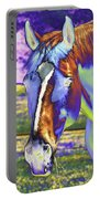 Psychedelic Horse Portable Battery Charger