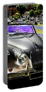 Psychedelic Jaguar Xk120 Classic Car 1 Portable Battery Charger