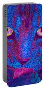 Psychedelic Kitty Portable Battery Charger