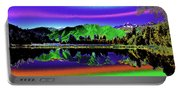 Psychedelic Lake Matheson Ner Zealand 3 Portable Battery Charger