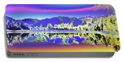 Psychedelic Lake Matheson New Zealand 2 Portable Battery Charger