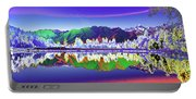 Psychedelic Lake Matheson New Zealand Portable Battery Charger