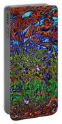 Psychedelic Mind Portable Battery Charger by Linda Sannuti