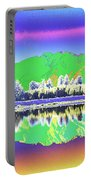 Psychedelic Mirror Lake New Zealand 3 Portable Battery Charger
