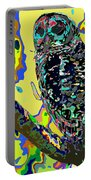 Psychedelic Owl Portable Battery Charger