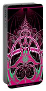 Psychedelic Rollercoaster Tunnel Fractal 65 Portable Battery Charger