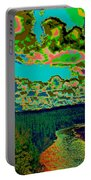 Psychedelic Skyline Over Spokane River #1 Portable Battery Charger
