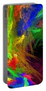 Psychedelic Spiral Vortex Fractal Flame Portable Battery Charger