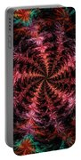 Psychedelic Spiral Vortex Purple Pink And Teal Fractal Flame Portable Battery Charger