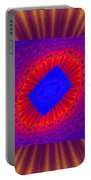 Psychedelic Spiral Vortex Yellow Blue And Red Fractal Flame Portable Battery Charger