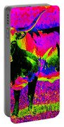 Psychedelic Texas Longhorn Portable Battery Charger