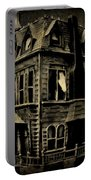 Psycho Mansion Portable Battery Charger by John Malone