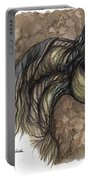 Psychodelic Grey Horse Original Painting Portable Battery Charger
