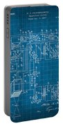 Pt Farnsworth Television Patent Blueprint 1930 Portable Battery Charger
