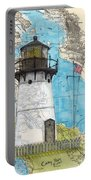 Pt Montara Lighthouse Ca Nautical Chart Map Art Cathy Peek Portable Battery Charger