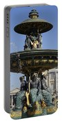 Public Fountain At The Place De La Concorde In Paris France Portable Battery Charger