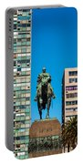 Public Statue Of General Artigas In Montevideo Portable Battery Charger